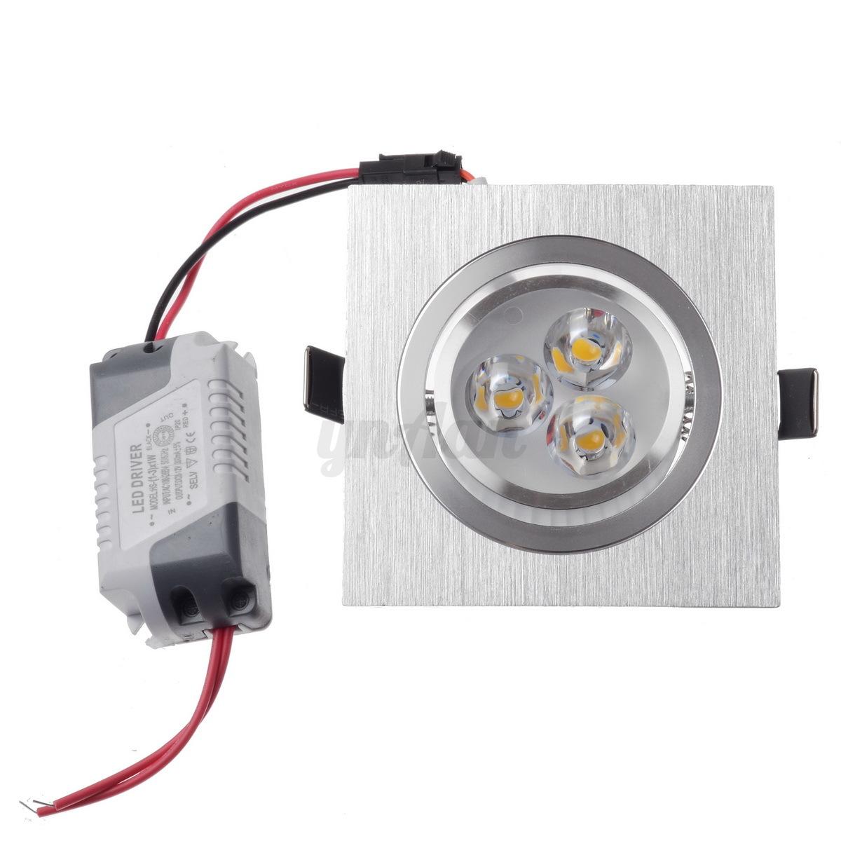 220V 3/5W Recessed LED Ceiling Downlight Spotlight Lamp