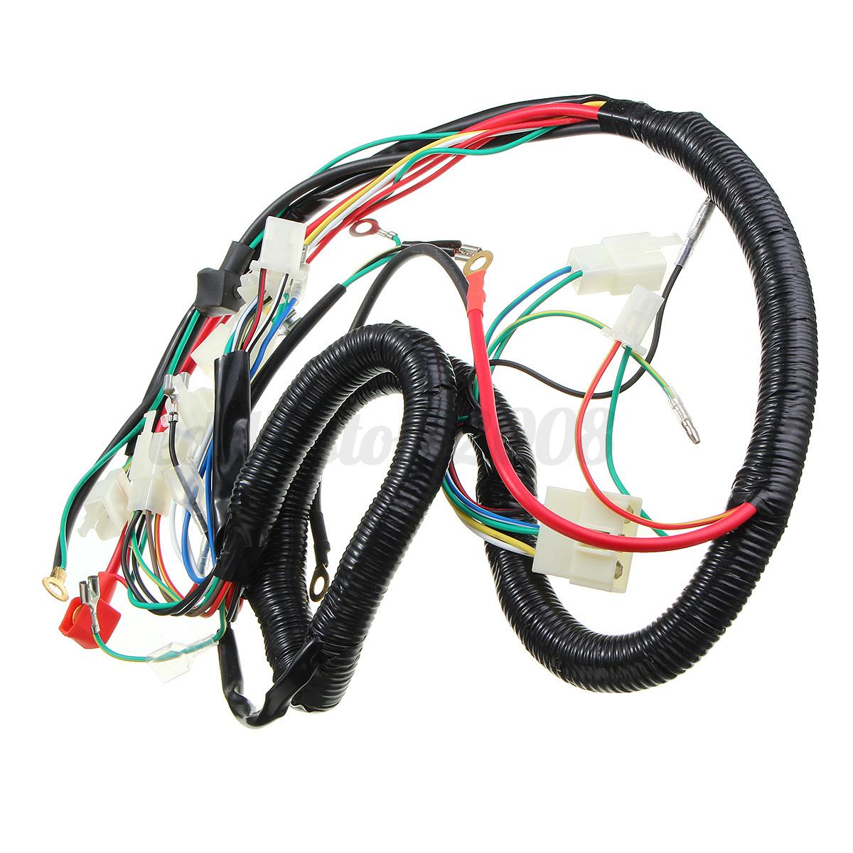 125 150 200 250cc cdi wire harness stator assembly wiring set atv 125 150 200 250cc cdi wire harness stator