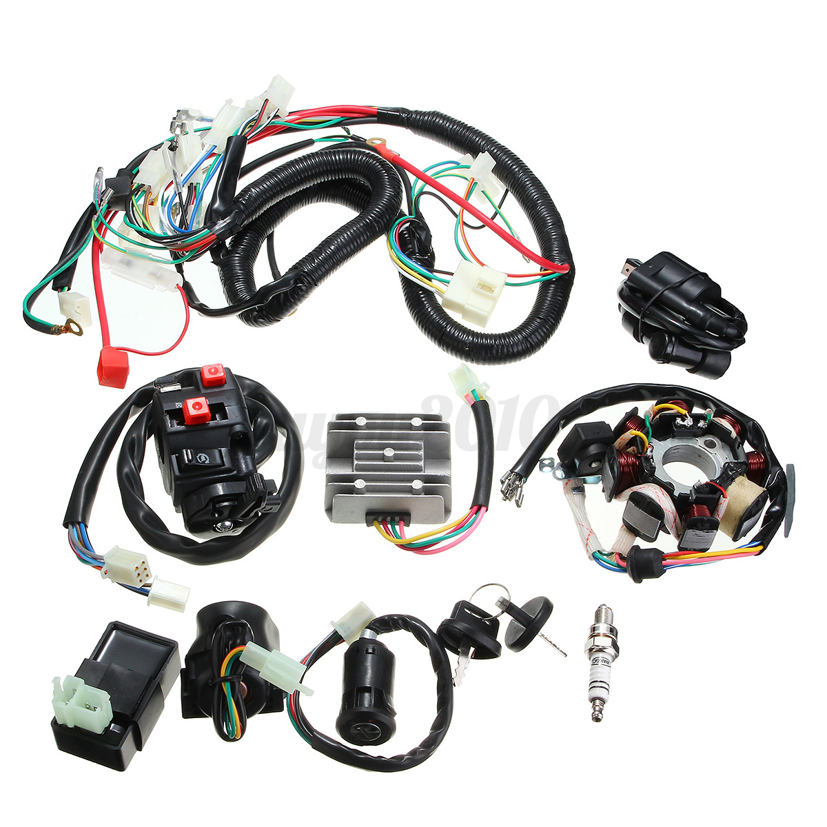 Electrics Wiring Harness Wire Loom Atv Quad 125 150 200 250cc Stator 107 Detail Image