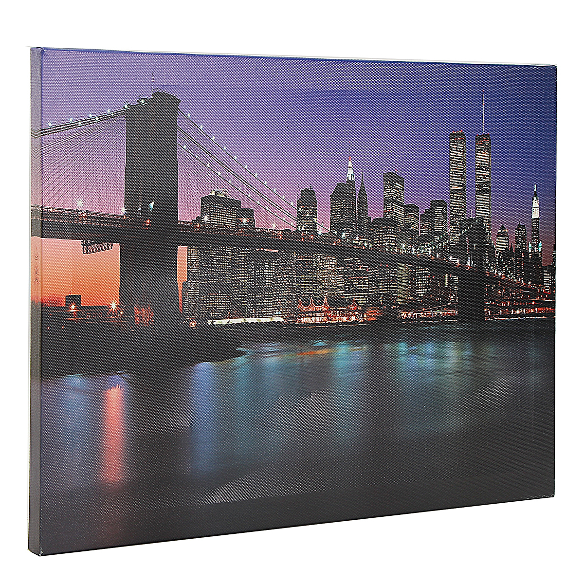 bridge led light up canvas painting picture wall hanging. Black Bedroom Furniture Sets. Home Design Ideas