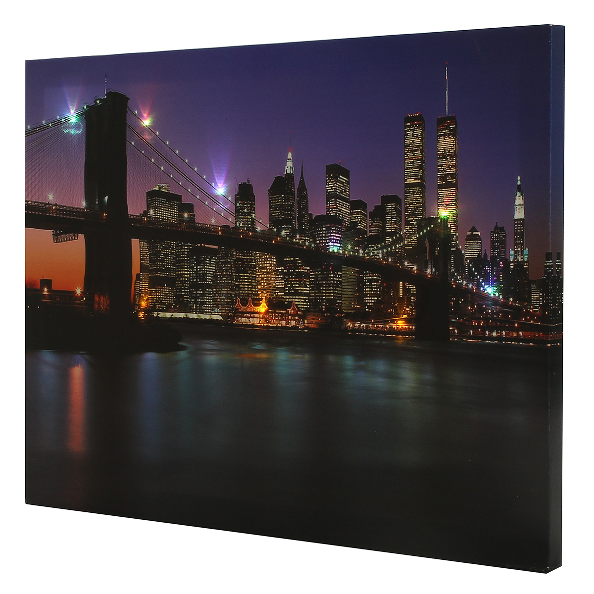 Led Wall Light Decor: The Brooklyn Bridge LED Light Up Lighted Canvas Painting