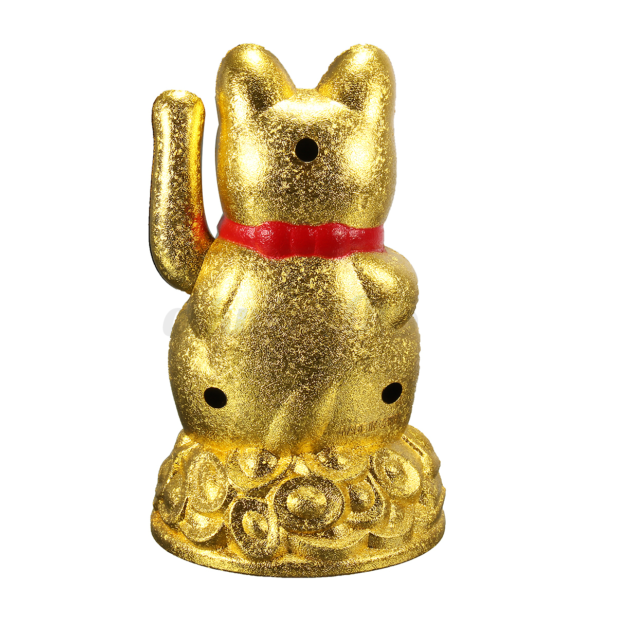 4 5 feng shui fortune gold ingot chinese lucky wealth waving cat by aa battery ebay. Black Bedroom Furniture Sets. Home Design Ideas