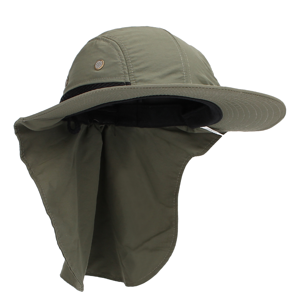 Men women boonie snap hat brim neck cover sun flap hunting for Womens fishing hat