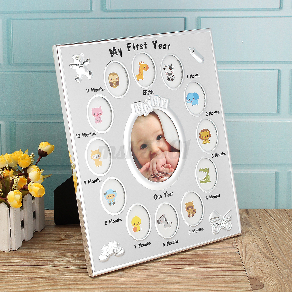My First Year Baby Photo Picture Collage Frame 12 Months Birth ...