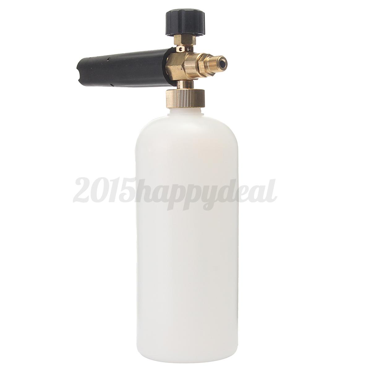 Pressure Washer Snow Foam Lance Bottle 1 4 Adapter For