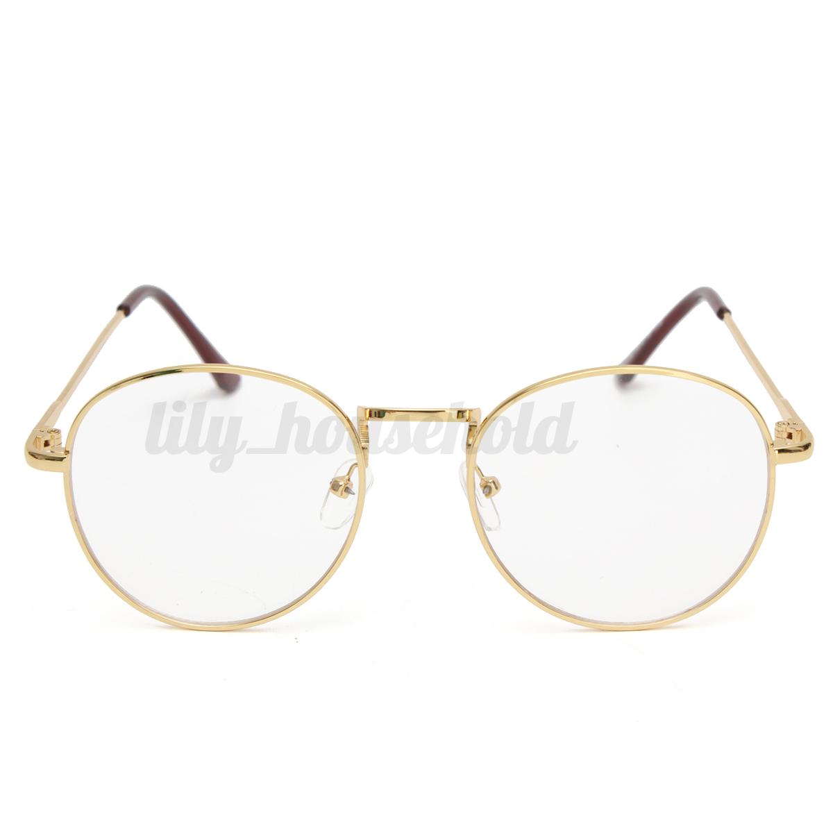 Damen Herren Retro Vintage Klarglas Oval Brille Brillen Gläser ...