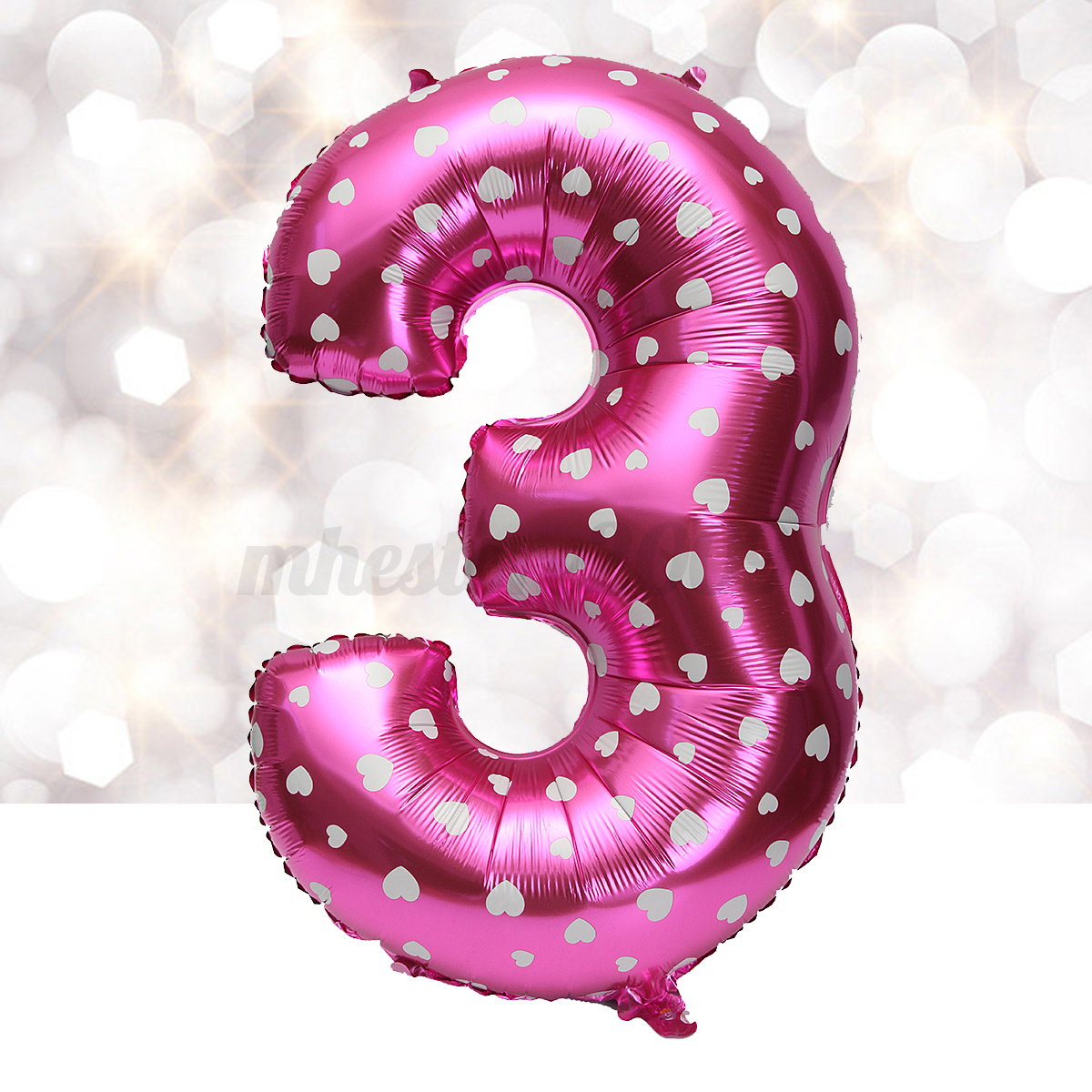 40 39 39 number foil balloons pink christmas air helium for Number 4 decorations