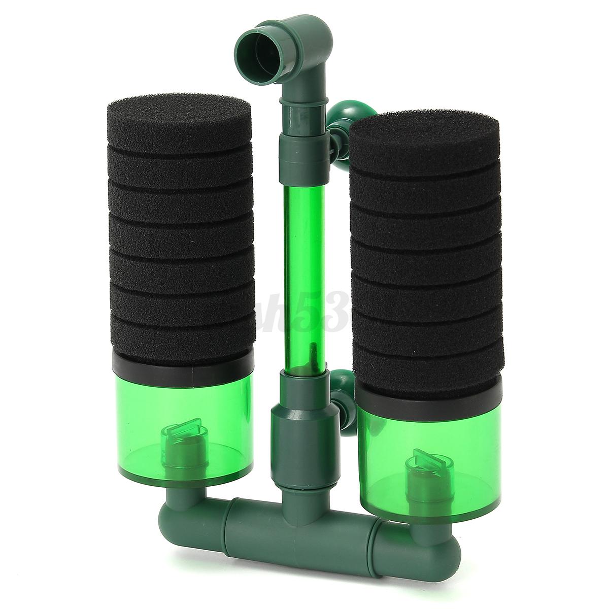 Biochemical-Bio-Sponge-Foam-Filter-Fry-Aquarium-Fish-Tank-Air-Pump-Double-Head
