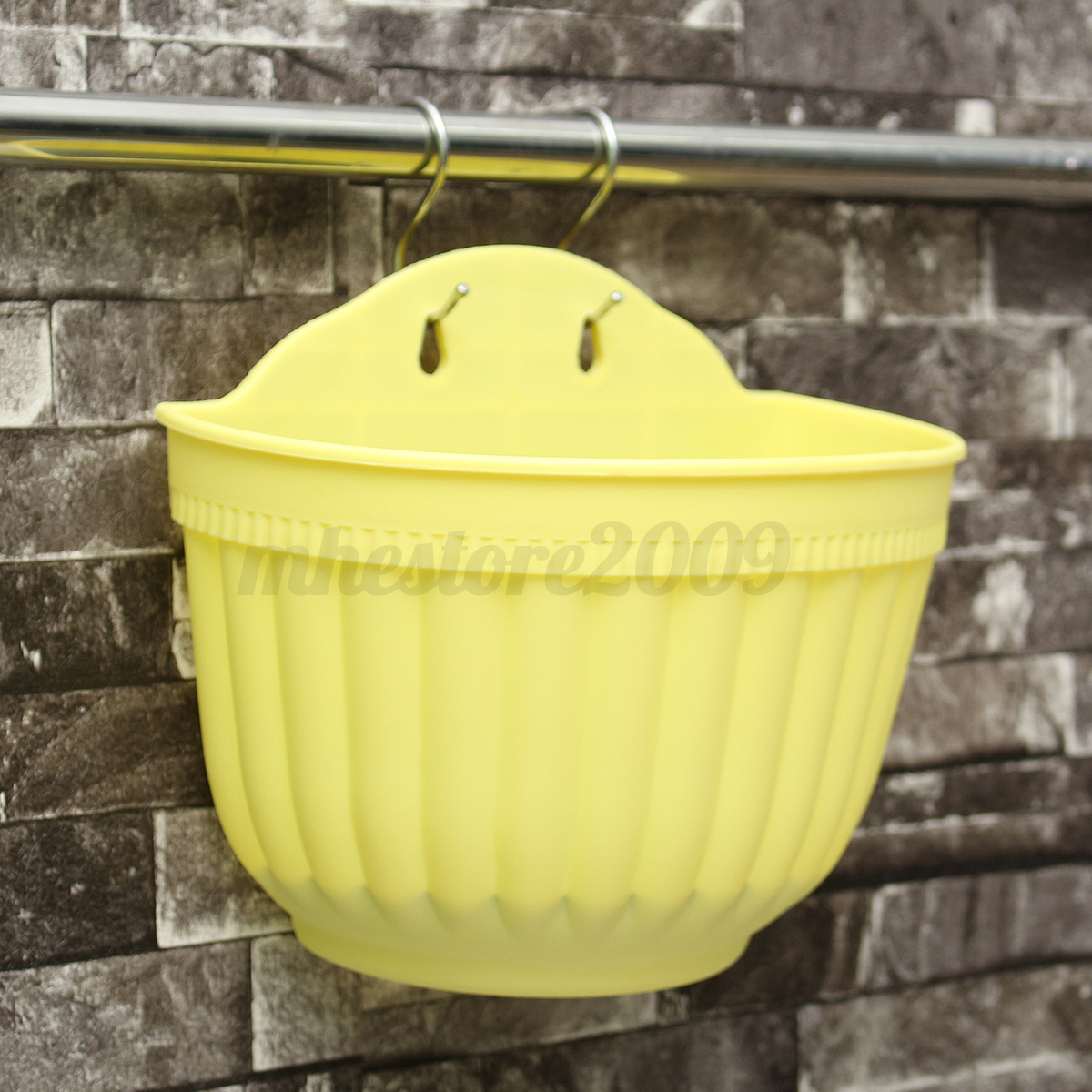 Large basket wall hanging garden balcony home flower plant for Balcony hanging planter