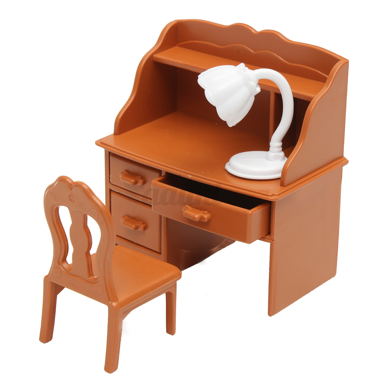 Vintage Plastic Miniature Dollhouse Furniture Set Bedroom Decor Kids Toy Gifts Auctions Buy