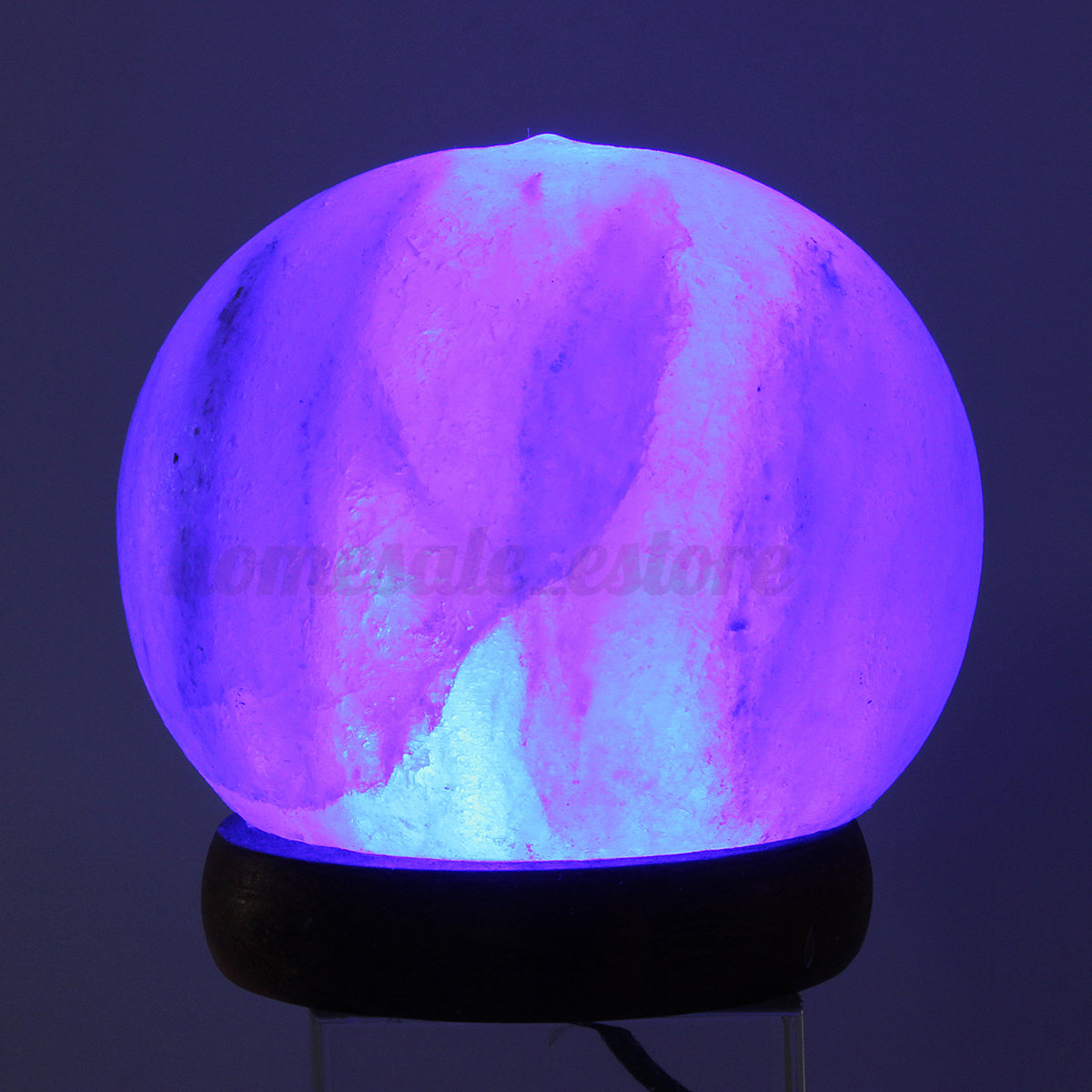 Himalayan Salt Lamp Led Bulbs : Himalayan Salt Table Lamp Crystal Rock Globe USB 7 Color Changing LED Lights eBay