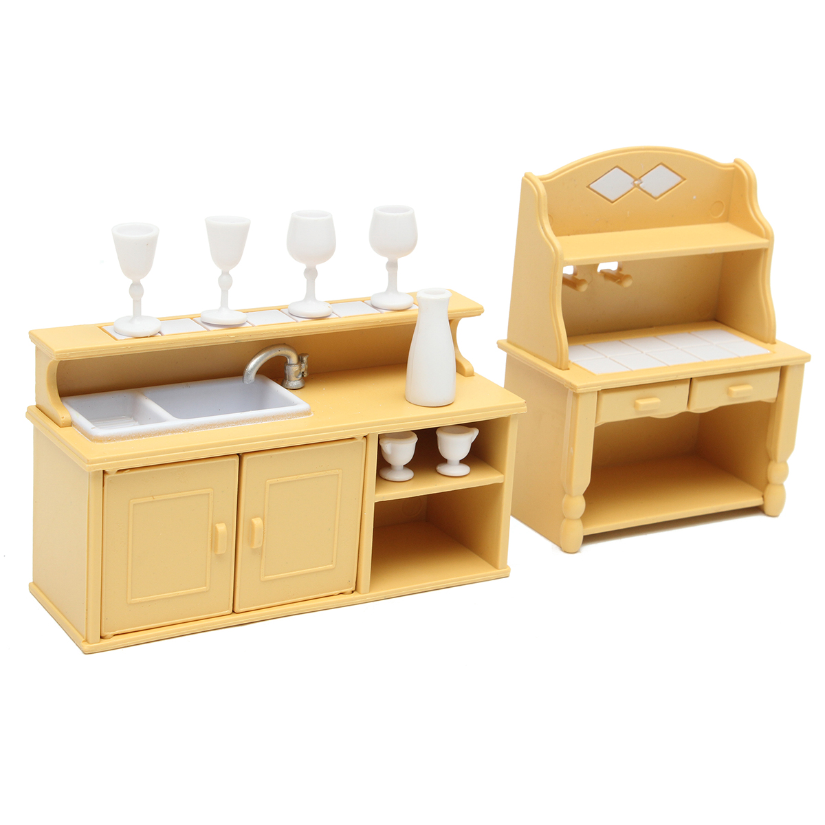 puppenhaus m bel spielk che kinder spielzeugk che holzk che spielzeug k che ebay. Black Bedroom Furniture Sets. Home Design Ideas