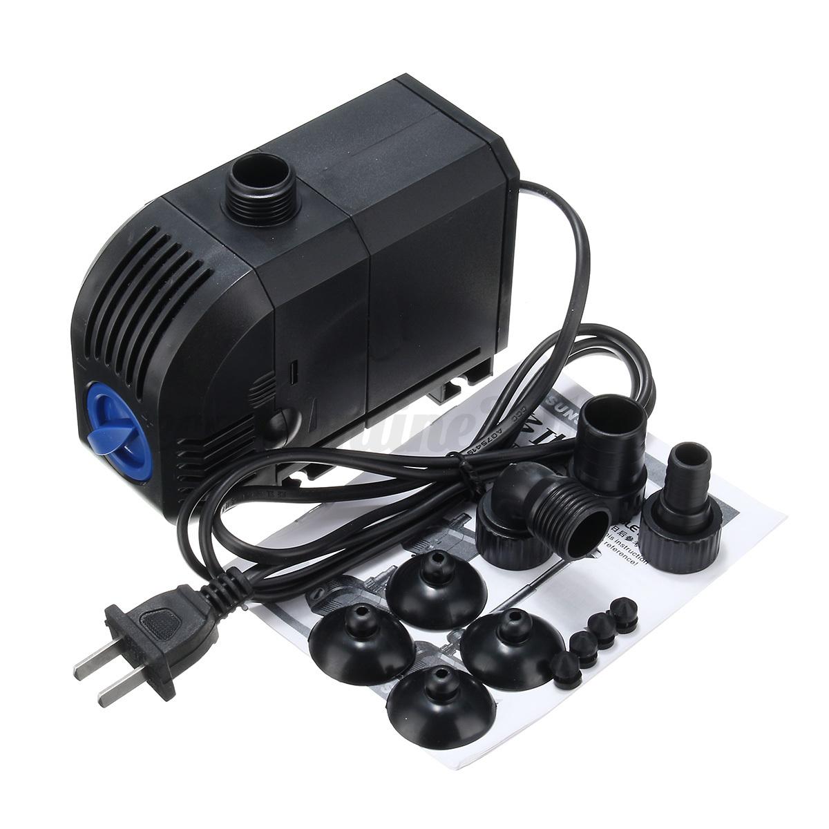 Electric submersible aquarium fish tank pond water pump for Water pump for fish pond