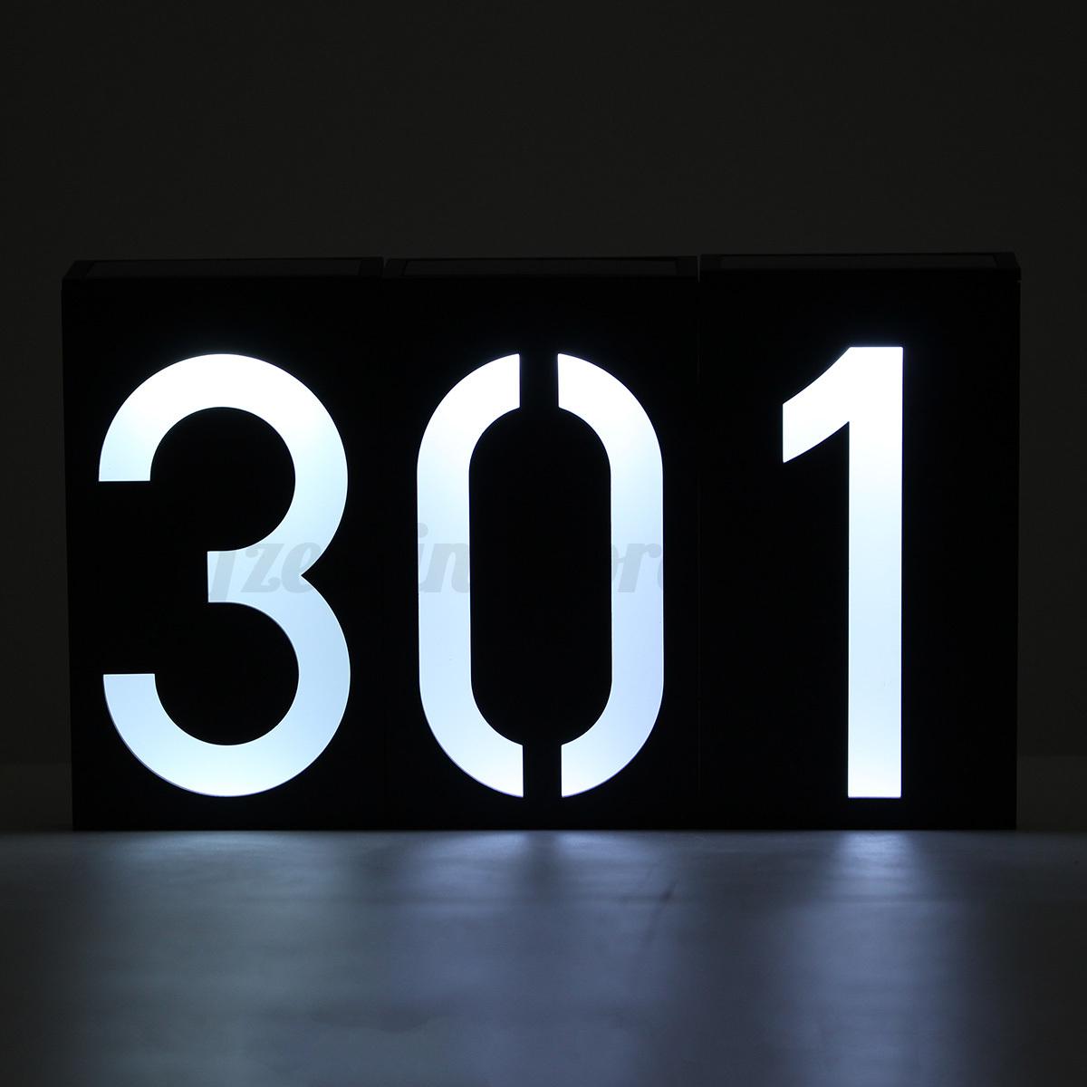Solar Power 6 LED Light Door Number Sign