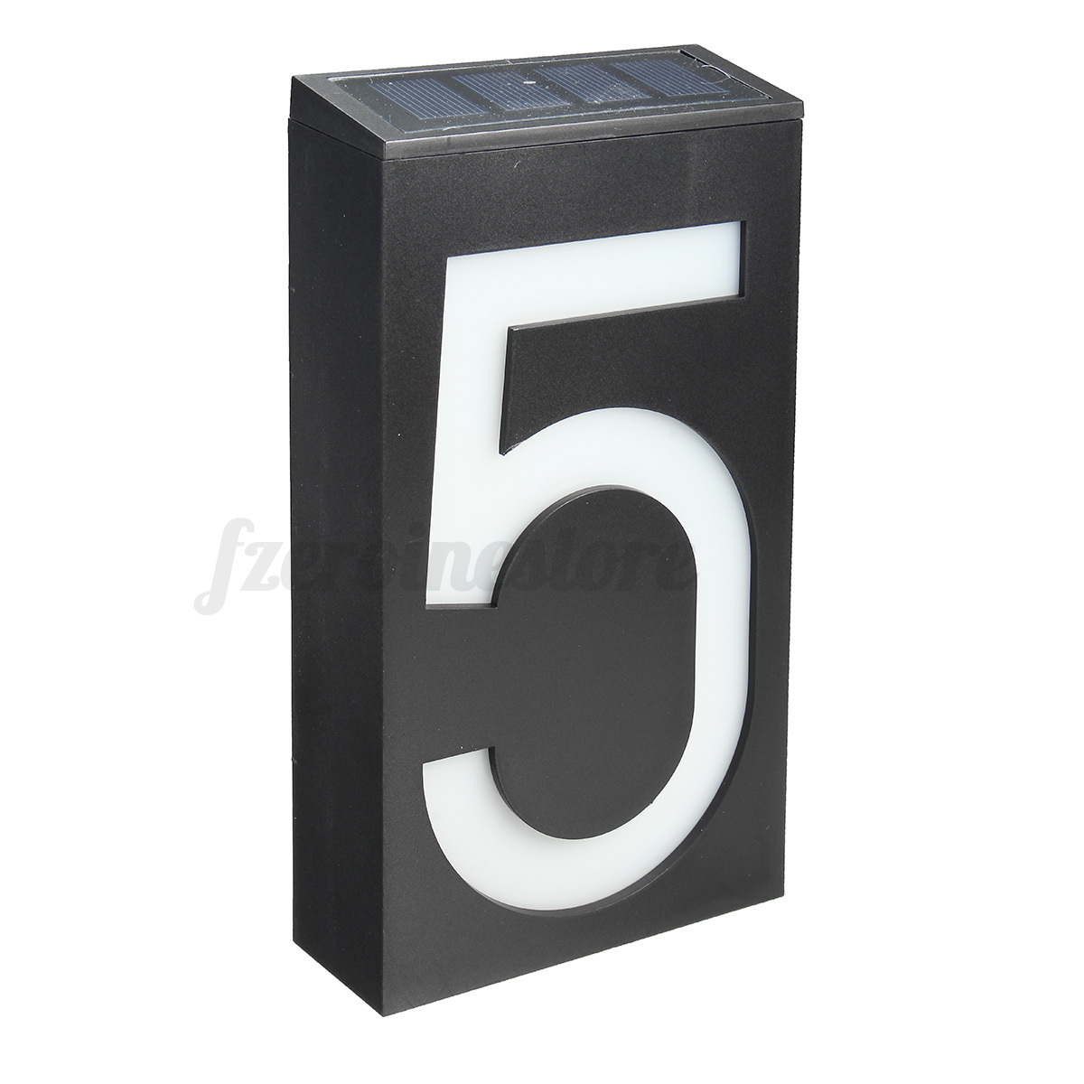 solar power 6 led light door number sign house hotel. Black Bedroom Furniture Sets. Home Design Ideas