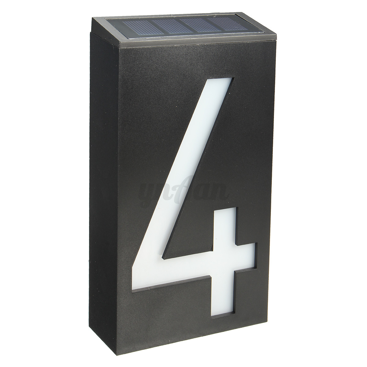 solar power 6 led number 0 9 light sign house door address. Black Bedroom Furniture Sets. Home Design Ideas
