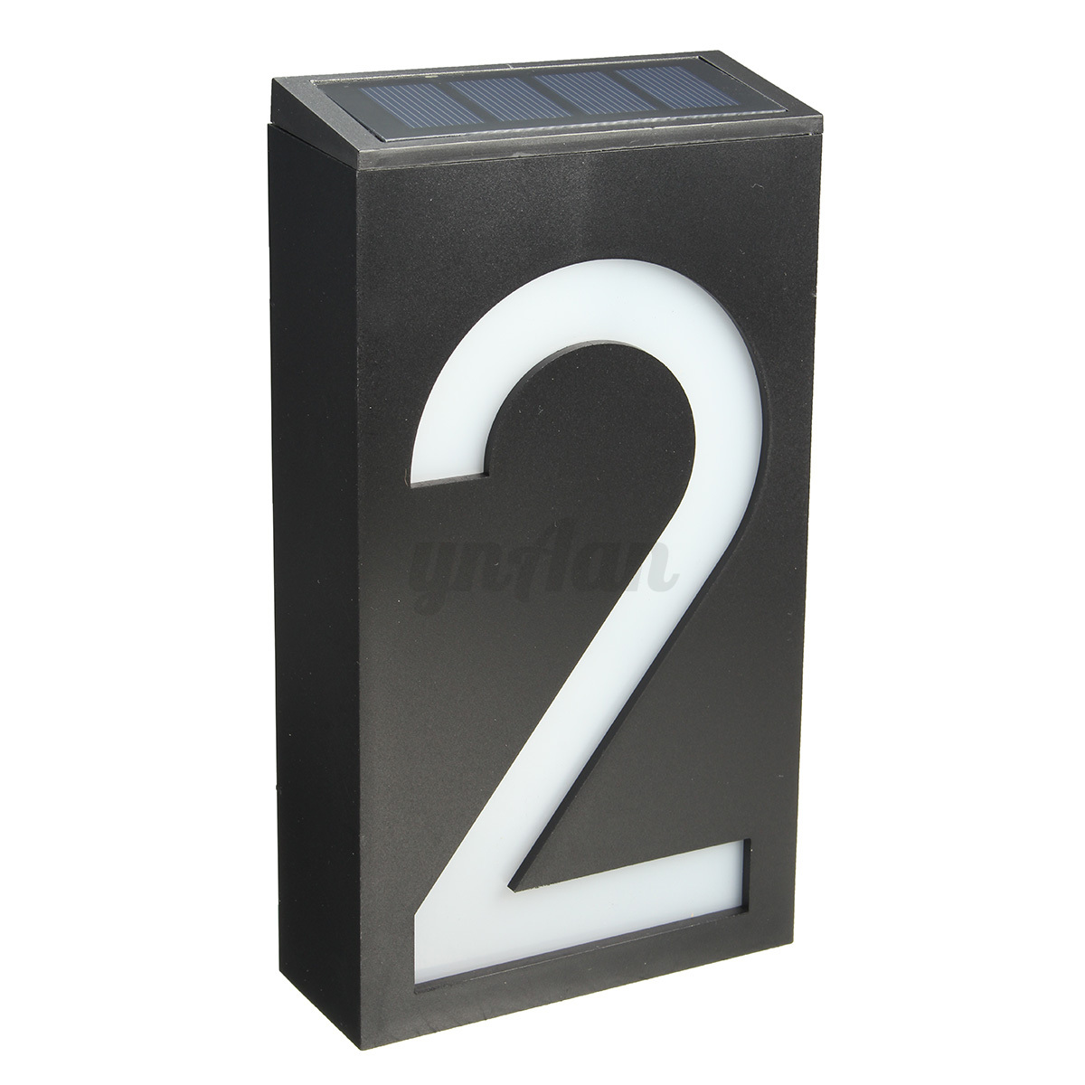 solar power 6 led number 0 9 light sign house door address plaque digit plate ebay. Black Bedroom Furniture Sets. Home Design Ideas