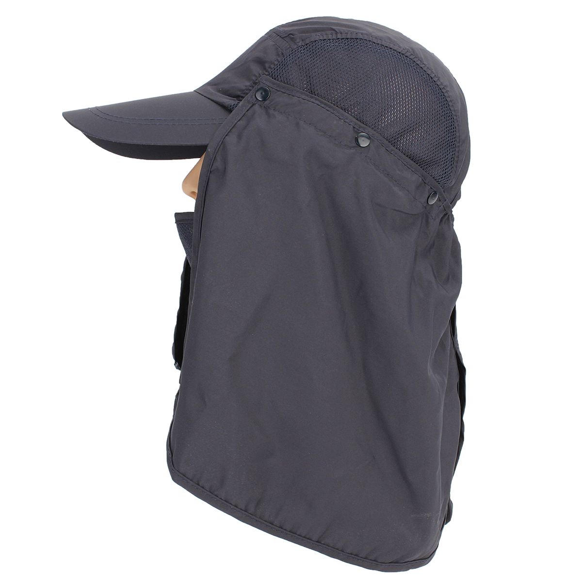 Unisex fishing hat cap face protector neck cover flap sun for Fishing neck cover