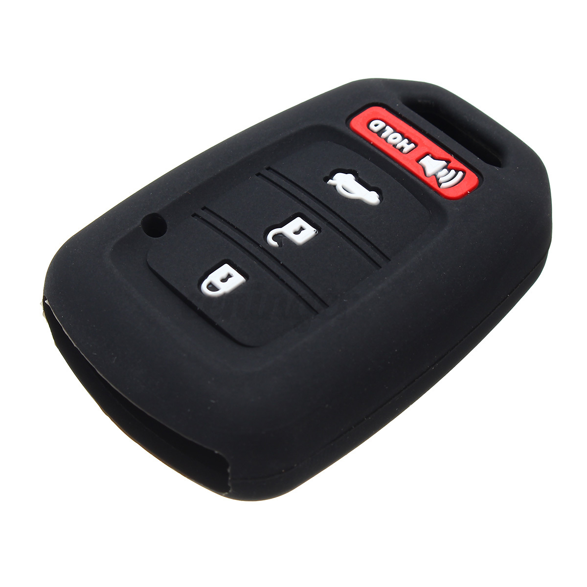 4 button silicone key fob case shell cover for 2016 honda. Black Bedroom Furniture Sets. Home Design Ideas