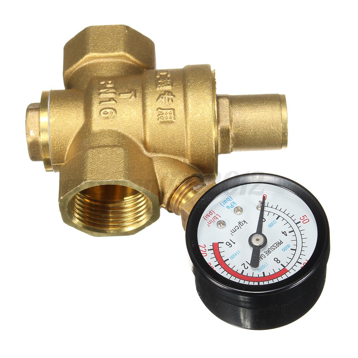 dn20 npt 3 4 39 39 adjustable brass water pressure regulator reducer with. Black Bedroom Furniture Sets. Home Design Ideas