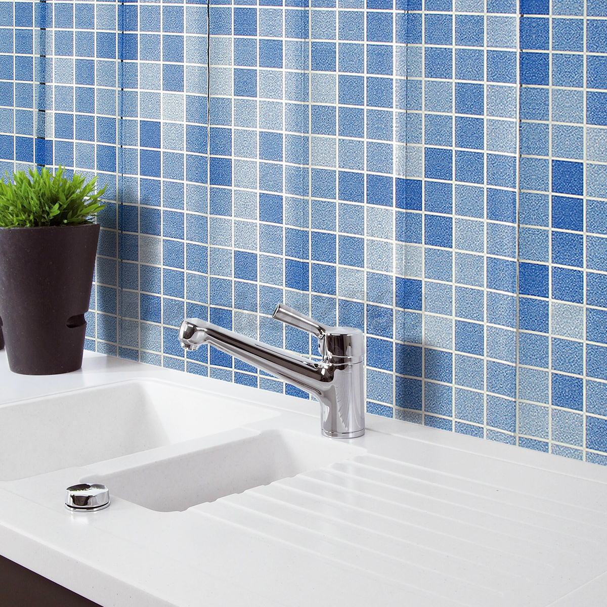 Self Adhesive Bathroom Wall Tiles: Self-adhesive 3D Mosaic Wall Paper Sticker Tile Floor