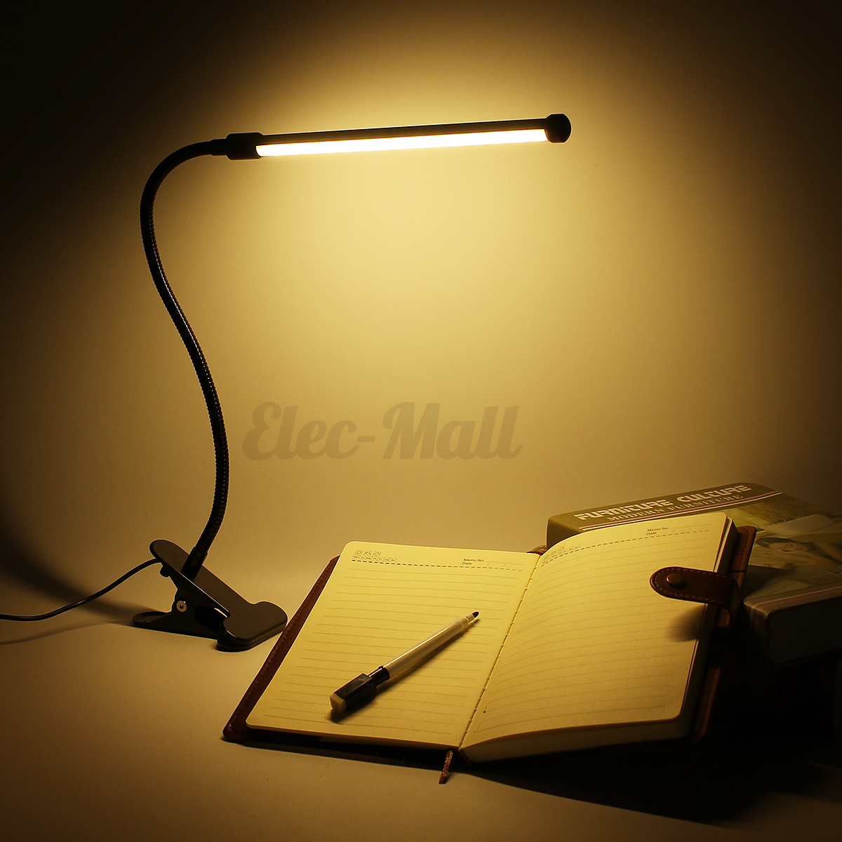 Flexible Usb Clip On Table Lamp Led Clamp Reading Study