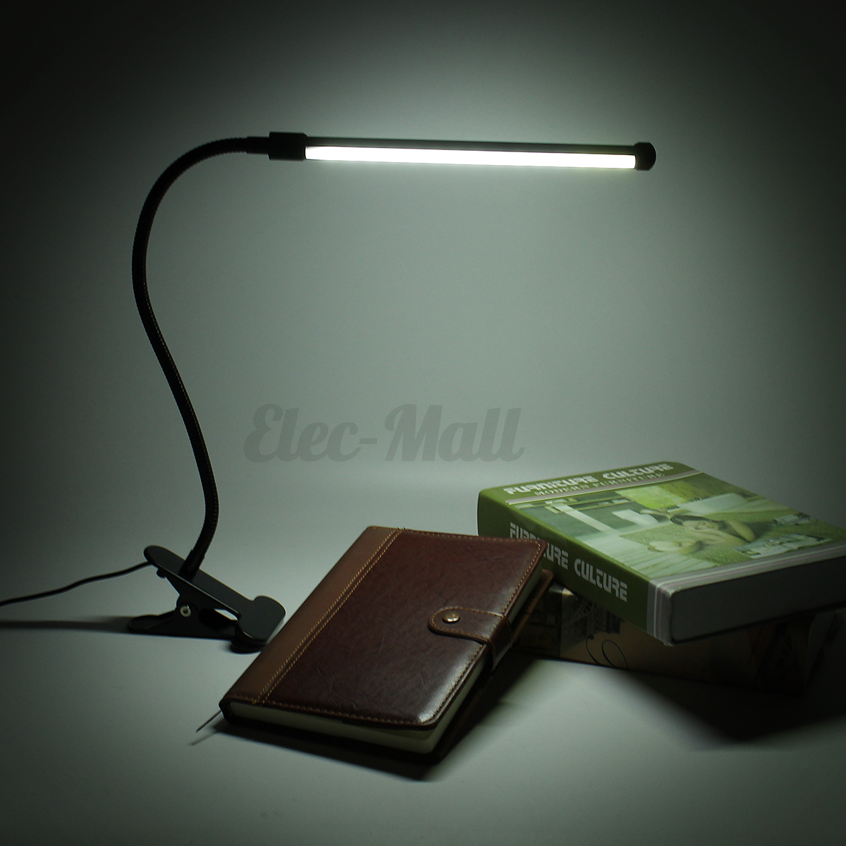 flexible usb clip on table lamp led clamp reading study. Black Bedroom Furniture Sets. Home Design Ideas