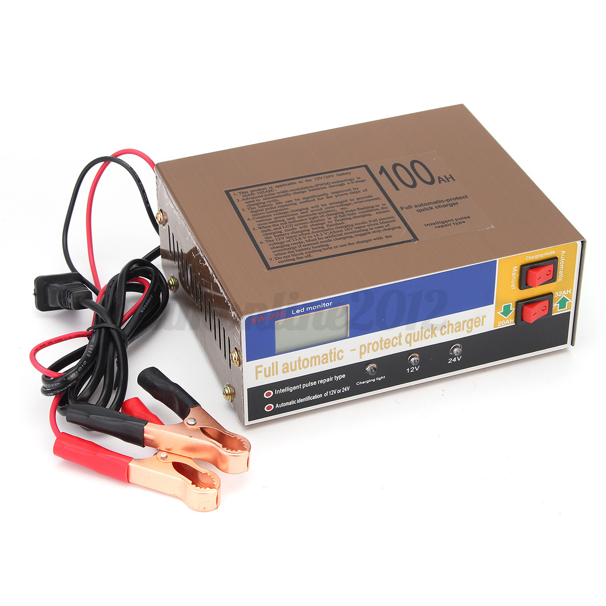 12 24v 100ah auto batterie ladeger t autoladeger t batterielader autobatterie ebay. Black Bedroom Furniture Sets. Home Design Ideas