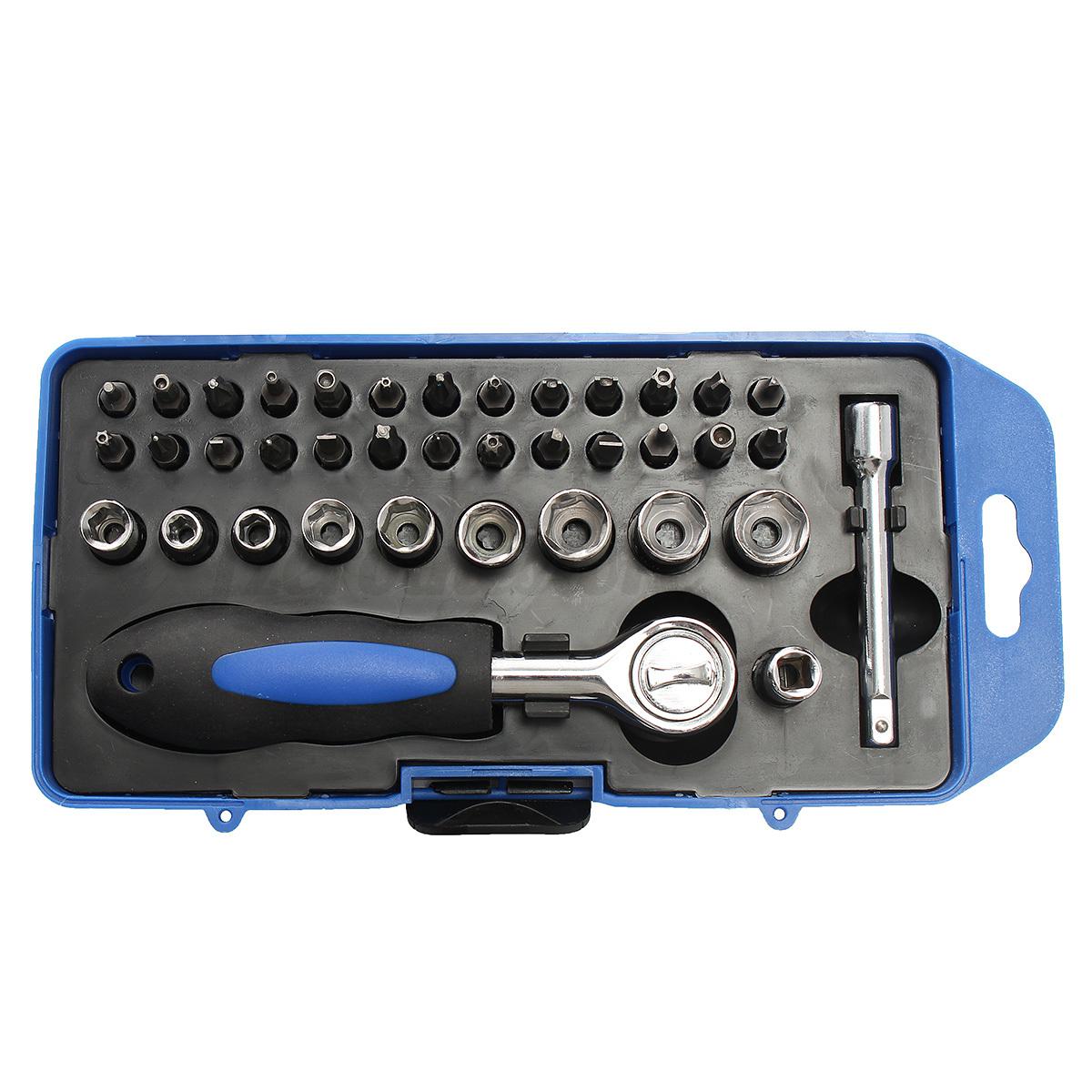 38pcs screwdriver bit set nutdriver precision slotted torx phillips tool kit. Black Bedroom Furniture Sets. Home Design Ideas