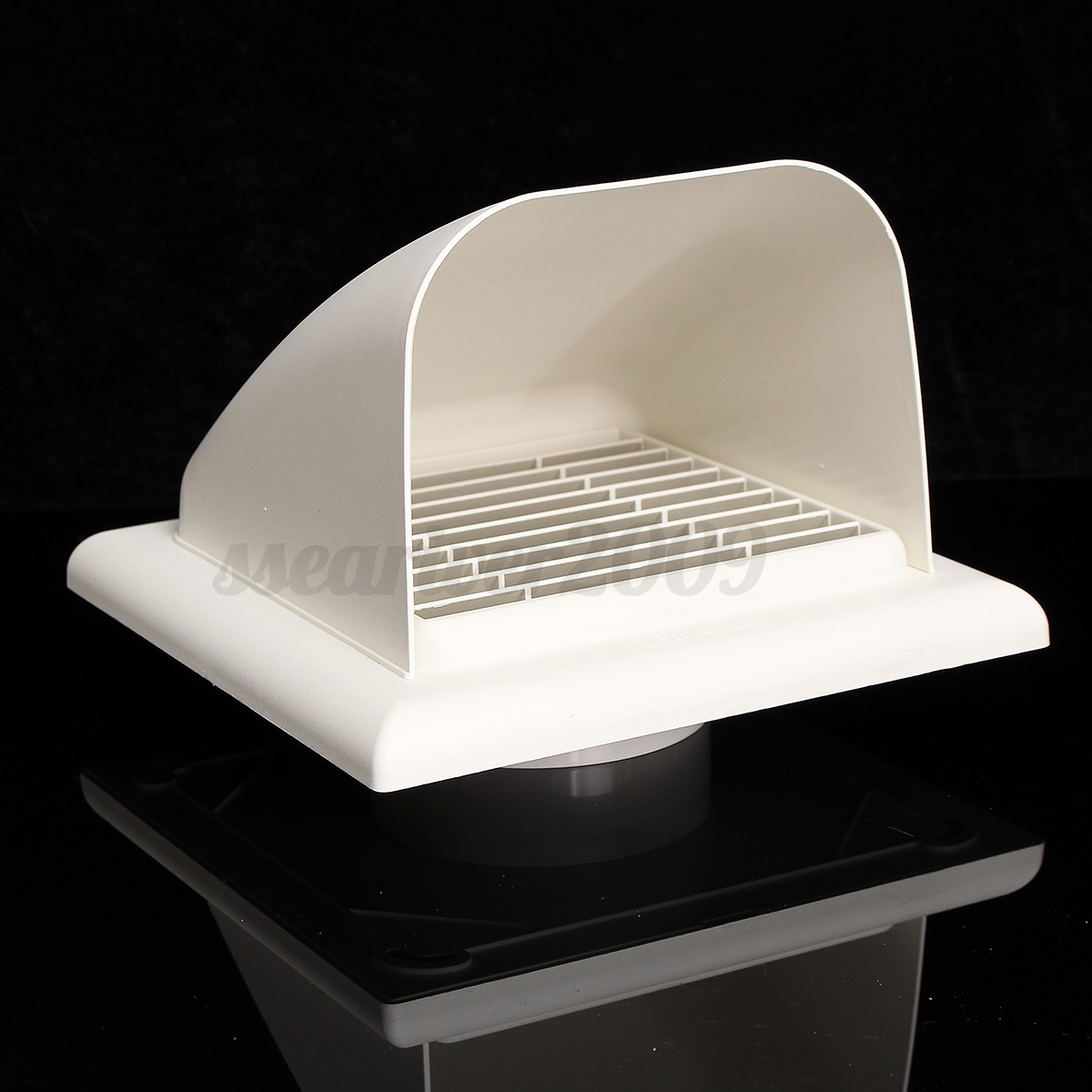 Ducting cowled gravity flap outlet cowl air vent grille