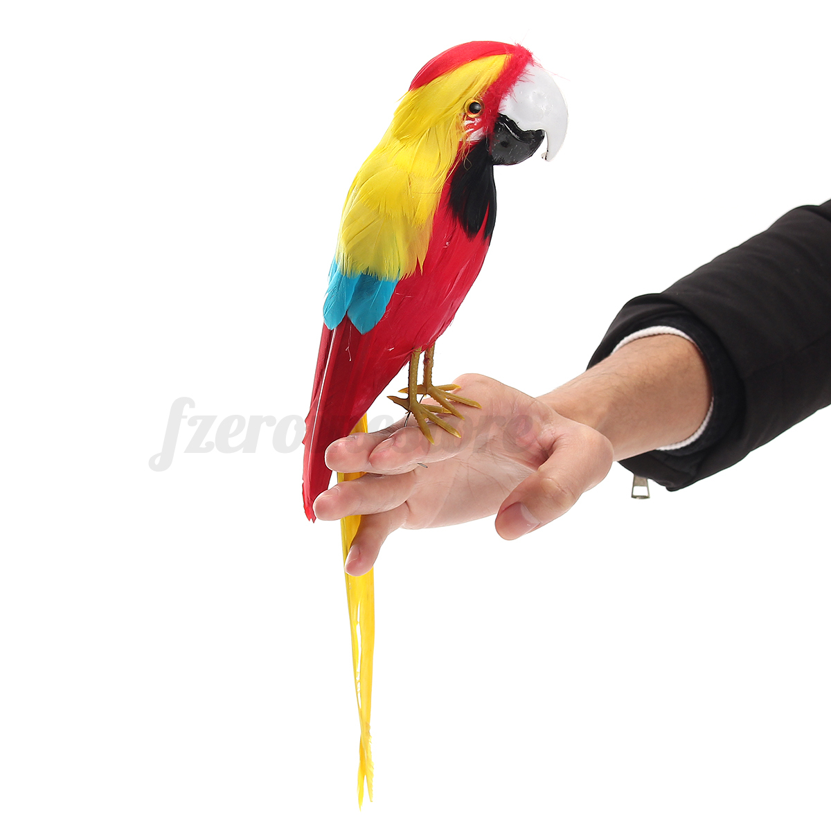 Fake artificial parrot feather bird realistic garden home for Artificial birds for decoration