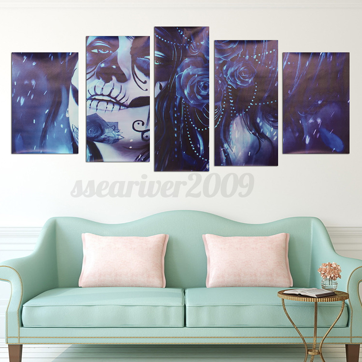5pcs modern abstract canvas painting print picture wall for Prints for home decor