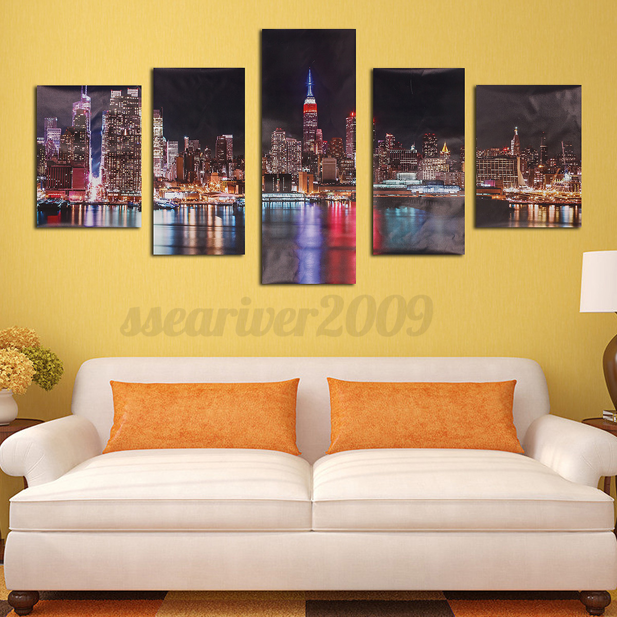 5PCS Modern Abstract Canvas Painting Print Picture Wall Art Home ...