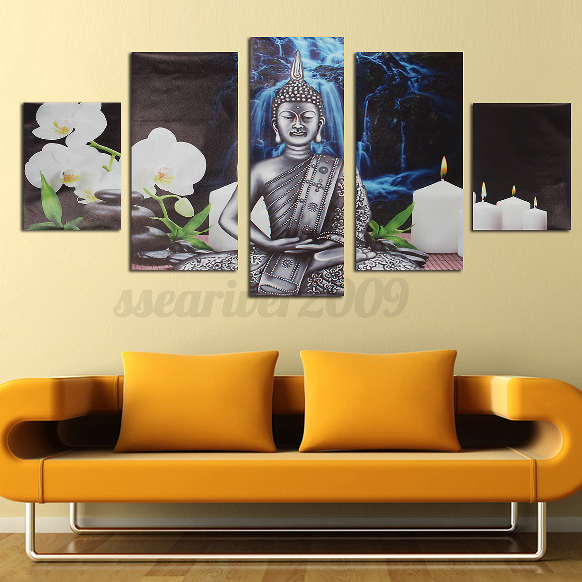 5pcs modern abstract canvas painting print picture wall art home decor no frame ebay. Black Bedroom Furniture Sets. Home Design Ideas