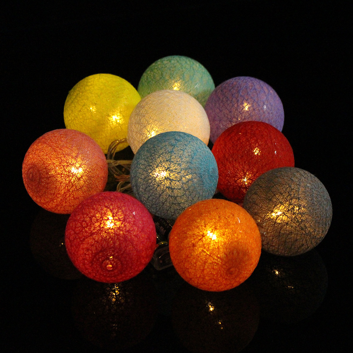 20 cotton ball fairy led string lights party patio wedding for Decor 9 iball