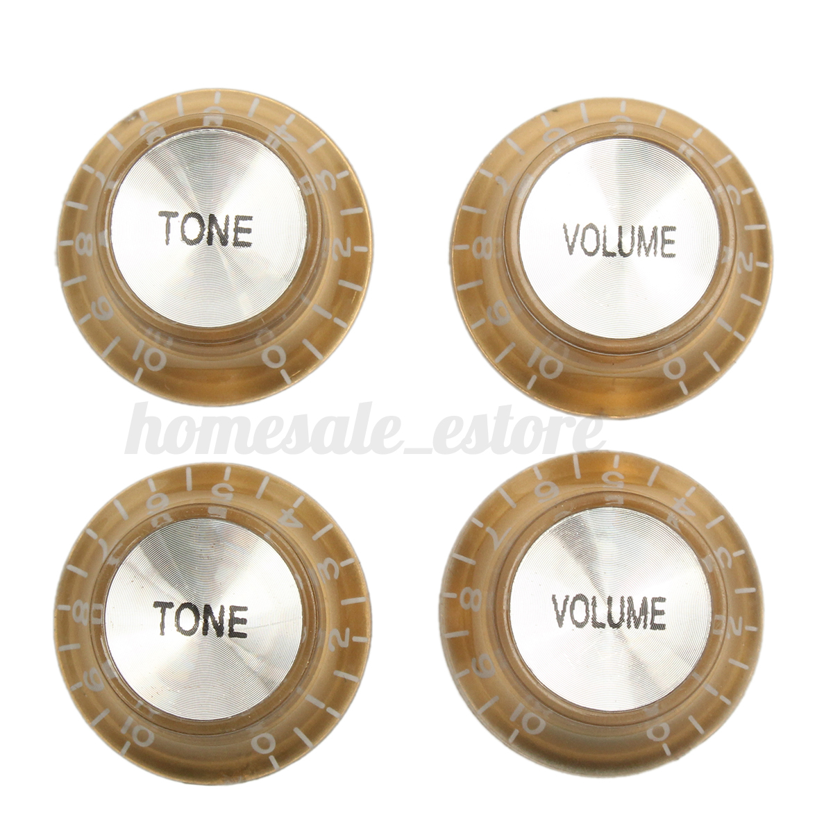 4 gold replacemen top hat speed control knobs for electric guitar volume tone ebay. Black Bedroom Furniture Sets. Home Design Ideas
