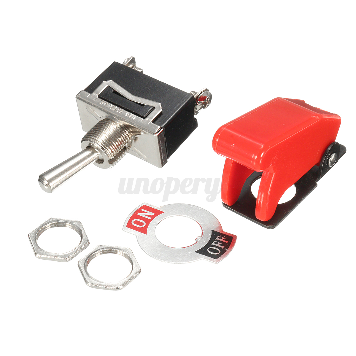 Light Duty Lever Controls : Heavy duty on off toggle switch metal lever car dash light